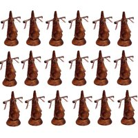 Desi Karigar Beautiful Unique Hand Carved Rosewood Nose-Shaped Eyeglass Spectacle Holder Wholesale Pack (Set Of 18)