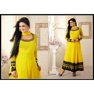 Women's Bollywood Salwar Kameez Yellow Design 7