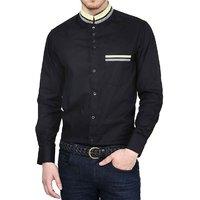 Dazzio Club Wear Black Full Sleeves Casual Shirts For MenS DZSH0100