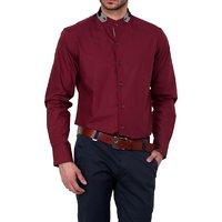Dazzio Club Wear Maroon Full Sleeves Casual Shirts For MenS DZSH0124