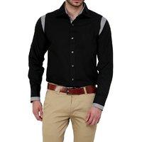 Dazzio Club Wear Black Full Sleeves Casual Shirts For MenS DZSH0133