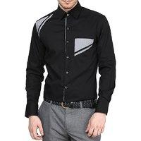 Dazzio Club Wear Black Full Sleeves Casual Shirts For MenS DZSH0079