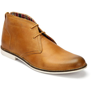 Delize Mens Tan Ankle Boots