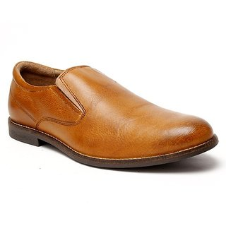 Delize Men's Tan Formal Shoes