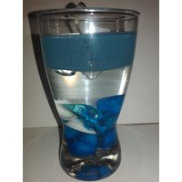 Magic Gel Blue Candle With Dolphin