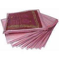 Set Of 12 Transparent Saree Covers