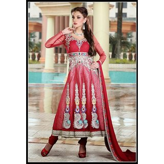 Women's Bollywood Salwar Kameez Coral Design 886