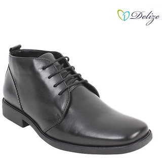 Delize Men's Black Formal Shoes Option 2