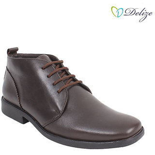 Delize Men's Brown Formal Shoes Option 1