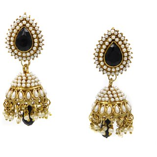 SK Black Colour Fashion Earrings - DSCN0272B