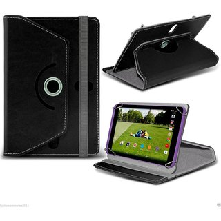 Rotating 360 Degree Flip Stand Cover Case Pouch For 7inch Dell Venue 7 -Black