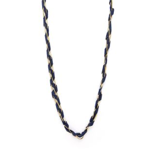 Salt Sexy  'S' Link Chain & Fabric Necklace