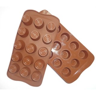 Silicone Chocolate Mould  15 Cup ( Pack of 1)