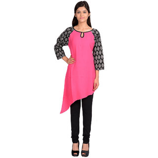 Vasavi Premium Quality Pink Colour Jaipur Cotton Kurti