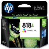 Hp Original 818l Tri Color Inkjet Printer Print Cartridge 818 L