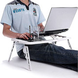 E-Table Multipurpose Portable Laptop Stand with 2 Cooling Fans available at ShopClues for Rs.599