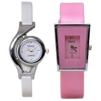 VR GLORY FANCY COMBO OF 2 WATCHES FOR GIRLS,WOMEN