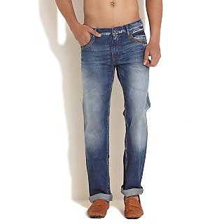 Pepe Jeans London Slim Fit Jeans With Leather Detailing