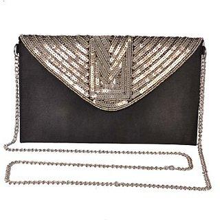 Diwaah Women Evening/Party Black Canvas Sling Bag SLBEBEYZUEFCAKZU