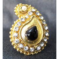 Black Mango Shape Ring