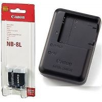 Canon NB-8L Lithium-Ion Battery Pack + Canon CB-2la Charger Include+ Wrty