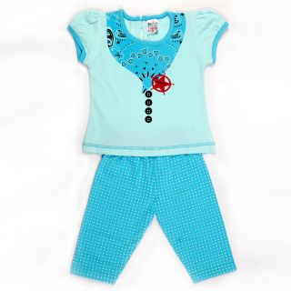 Little Life Baby Frock Cotton (SKY) (DN-171) (Size: 20)