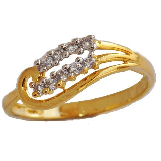 ENZY Bewitching Rhodium Plated CZ Ring for Women