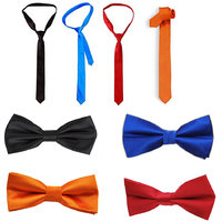 JARS Collections Multicolor Combo of 4 Neck Tie and 4 Bow Tie