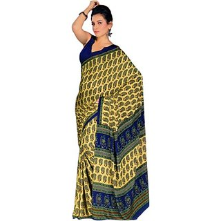 Sunaina Printed Fashion Synthetic Sari SAREYNBNZKZTDBZY