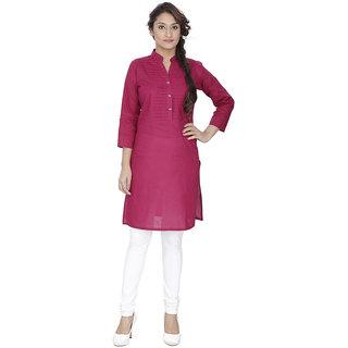 LeeZaro Pink Cotton Kurti for Women
