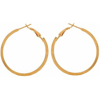 Maayra Beautiful Gold Contemporary Get-Together Hoop Earrings