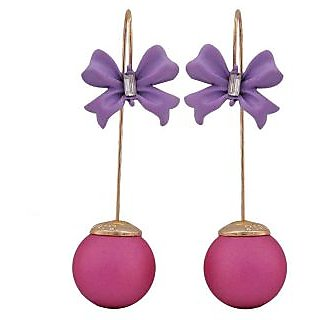 Maayra Exclusive Purple Blue Designer Get-Together Drop Earrings