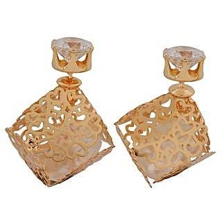 Maayra Classic Gold Designer College Stud Earrings