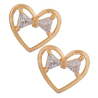 Maayra Sexy Gold Stone Crystals College Stud Earrings