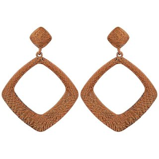 Maayra Chic Bronze Designer Get-Together Drop Earrings
