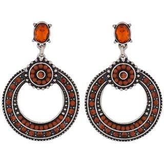 Maayra Sober Orange Brown Designer Party Drop Earrings
