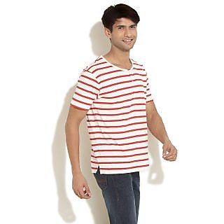 FREECULTR Striped Jersey Knit Henley