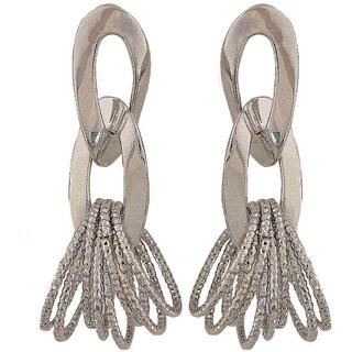 Maayra Amazing Silver Designer College Drop Earrings