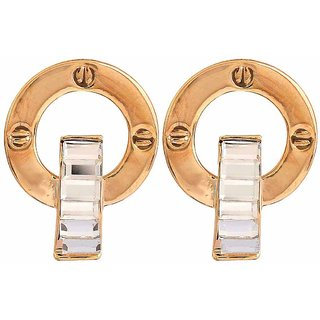 Maayra Artistic Gold Designer College Stud Earrings