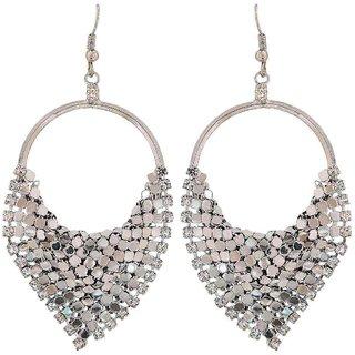 Maayra Lovely Silver Designer Party Dangler Earrings