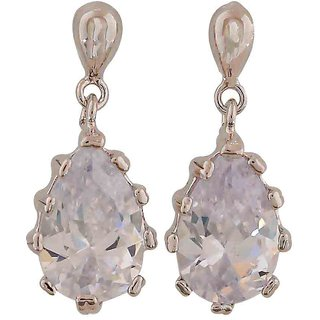 Maayra Plush Silver Kundan College Drop Earrings