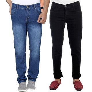 AVE Combo Blue and Black Regular Wear Jeans Pack of 2 (AV-2CM-JEN-FDR-1-RC-15)