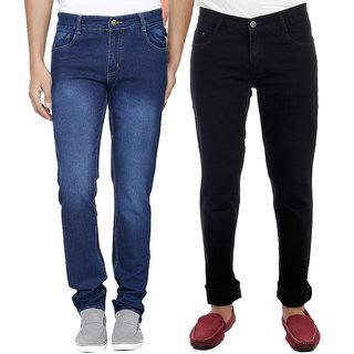AVE Combo Blue and Black Regular Wear Jeans Pack of 2 (AV-2CM-JEN-FDR-3-RC-15)