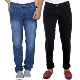 AVE Combo Blue and Black Regular Wear Jeans Pack of 2 (AV-2CM-JEN-FDR-4-RC-15)