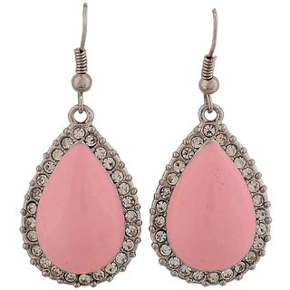 Maayra Sexy Pink Pearl Cocktail Dangler Earrings