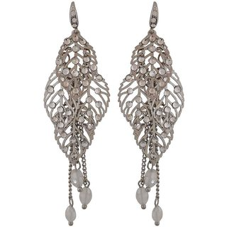 Maayra Terrific Silver Designer College Dangler Earrings