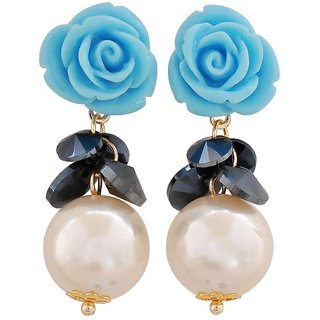 Maayra Unique Multicolour Pearl Casualwear Drop Earrings