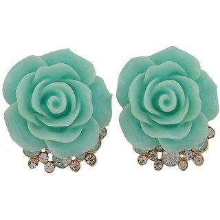 Maayra Elegant Green Designer College Stud Earrings