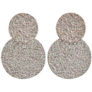 Maayra Dashing Silver Designer Casualwear Drop Earrings