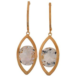 Maayra Exclusive Gold Stone Crystals Casualwear Drop Earrings
